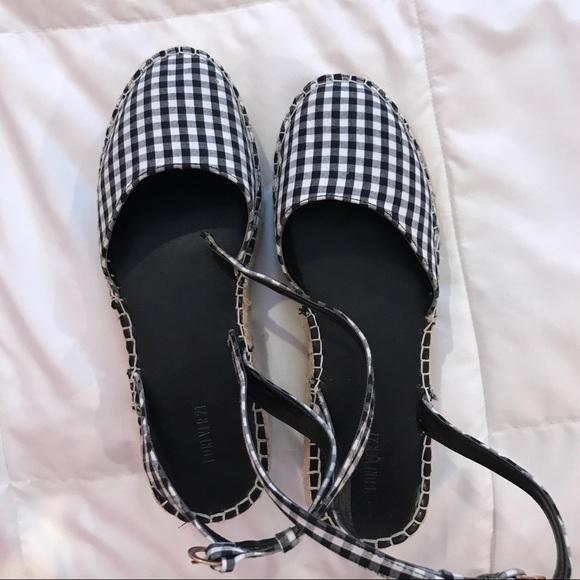 facf0a712963 Forever 21 Shoes - Gingham Platform Espadrilles